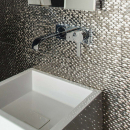 New Silver Mosaic Tiles Bathroom Home Design Ideas Excellent On Home Interior